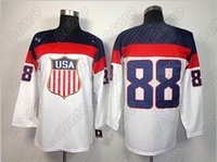 Cheap 2014 sochi olympics team ice hockey jerseys 88#blackhawks jerseys kane men size m-3xl free shipping online wholesale