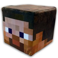 Wholesale quot New Arrivals quot Minecraft Cube Pillow Steve plush throw pillow cm cm cm With fabric tag OPP Bag Packing