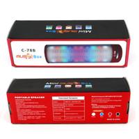Altavoz sin hilos portable de Bluetooth del envío del altavoz libre estupendo del altavoz con las luces coloridas del LED y la tarjeta de alta fidelidad del TF de la ayuda del altavoz de FM