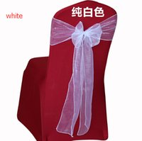 Wholesale hot sale Chair Cover Sashes Organza Material Wedding Sash Wedding Party Decorations Bow Many Color Wedding Decor