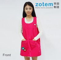 Wholesale High quality Colors Korean Types Thicken Cotton Woman Girl Home Kitchen Cooking Apron Kit Protective Apron