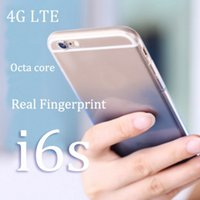 Wholesale Octa core Goophone i6s MTK6753 Quad Core Plus quot IPS phone G G G Rom Metal lte GPS Touch ID unlocked