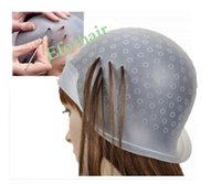 Wholesale Professional Reusable Salon Hair coloring Cap Highlighting Dye Frosting Cap Hair Coloring with Metal Hook Unisex