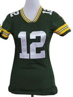 Wholesale Aaron Rodgers Jersey Green Elite Jersey women American Football Jerseys girl Uniforms lady Sports Jerseys with Stitched Name Number