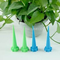 Wholesale 2Lot Garden Cone Watering Spike Plant Flower Waterers Bottle Irrigation System dUmETd