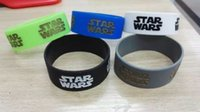 silicone bracelet - Shipping Star Wars Silicone Wristband Bracelet Inch Wide Band For Give Away Gift