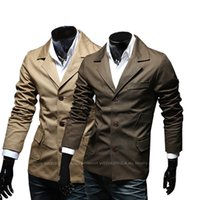 Wholesale 2014 autumn new men s Slim Stand collar jacket Korean version of the Single breasted thin models male coat B024