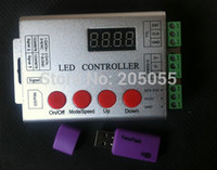 Wholesale wireless SD card pixel programable LED Full color digital controller V for WS2811 ws2801 LPD8806 WS2812 DMX led strip