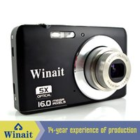Wholesale 16Mp Max MP CMOS Sensor Digital Camera with X Optical Zoom quot Color Screen Rechargeable Lithium battery
