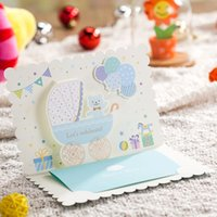 baby boy shower invitations - New Arrival Free Personalized Printing Cute Blue Invitation Card for Boy Baby Shower Party