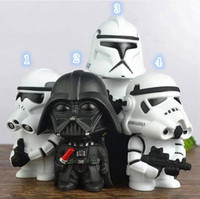 Wholesale 2016 Q version Star Wars Piggy Bank Evade Glue Figure Toy Jedi stormtrooper Coin Bank