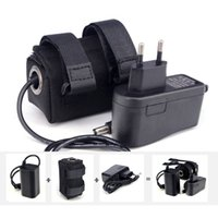 Camera Batteries battery pack bike light - 6400mAh Waterproof Battery Pack v Lithium Li ion Rechargeable Bicycle Bike Light Headlight Bateria Pack with Charger