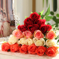 balcony sets - New Rose flower simulation fake flowers sitting room decorate the balcony can form a complete set of wedding rose flowers1254