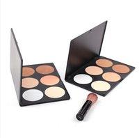 Wholesale 6 Color Face Powder Makeup Cosmetic Blush Palette Blusher Concealer Palette Makeup Powder Pro Makeup for All Skin Long Lasting Concealer