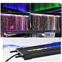 Wholesale Double bubble lights LED aquarium lighting strip diffuser aeration energy saving light amphibious aquarium diving lights