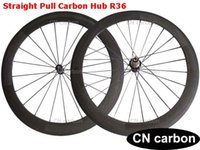 Wholesale Straight pull R36 carbon hub mm Clincher Tubular carbon road bicycle wheelset mm mm mm rim width