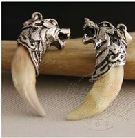 Wholesale Wu Jing Spike necklace men jewelry necklace Pendants genuine Tibetan mastiff teeth