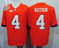 acc style - Mens Clemson Deshaun Orange Limited College Football Jersey Steve Fuller Patch New Style ACC Patch Size M L XL XL XL