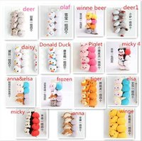 Wholesale 15 style to choose sets set Tsum Mickey ANNA ELSA OLAF CARTON Donald Duck Winne the Pooh Hair Ring Hair Band