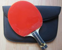 Wholesale Finished racket butterfly zhang jike super zlc table tennis blade DHS hurricane black with blue sponge butterfly red