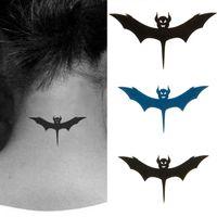 beauty bat - Sale Mal Hot Temporary Beauty Fresh Design Body Art Waterproof Waist Neck Bat Removable Tattoo sticker