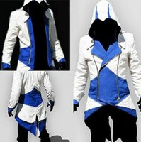 Wholesale Men Assassins Creed III Conner Kenway Hoodie Coat Jacket Assassin s Creed Assassin s Costume Connor Cosplay Overcoat