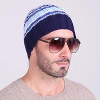 al por mayor turbans-9 colores hombres / mujeres de otoño e invierno de lana sombreros caliente hizo punto el sombrero al aire libre de esquí Turbante puntera de tapas por mayor Skullies Gorros