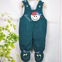 Cheap Wholesale-Warm Winter Baby Overall Baby Footies Cartoon Cool Newborn Clothes Baby Boy All in One Baby Girl Clothing 6-9 Months New