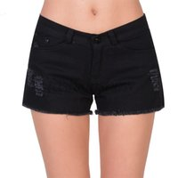 Cheap 2014 New Summer Women Vintage High waist shorts jeans feminino Ripped Hole short jeans denim female cutoffs shorts B9 SV004437