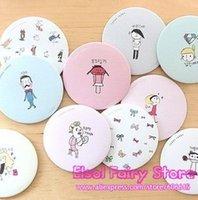 Wholesale Pocket hand Cosmetic Mirror Cute make up Mirror Round Cartoon Mirror