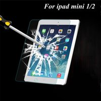 Wholesale 2016 Real Lcd Monitor Monitores Pc Anti scratch Tempered Glass Screen Protector Case for Ipad Mini Retina Clear Film with Retail Box