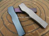 Wholesale Bat version Microtech ap HALO V S E accessories blade material VG handle titanium alloy carbon fiber board