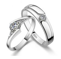 Wholesale High quality fashion diamond silver statement rings wedding ring infinity charms couple ring radiation