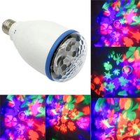 Wholesale E27 W Mini Rotating RGB LED Bulb Stage Light Party Disco Kaleidoscope Lamp Stage Effect Lighting