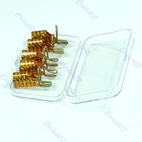 Wholesale G104Hot Sell per SET Special Reusable Nail Forms UV Gel Acrylic French Tips Art Gold