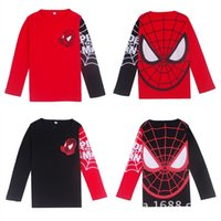 Wholesale Children s clothing Spiderman style casual long sleeved T shirt bottoming shirt boys and girl TZ007