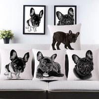Wholesale 2015 Cushion Covers Car Covers For Sofa Summer Style Decorative Throw Pillow Covers French Bulldog Cushions Case cm