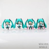 Wholesale Anime Dragon Hatsune Miku Playing Guitar Piano cute Action Figure Collectible Toys Dolls set