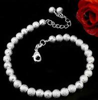 ball bracelets for men - Bracelet Bangle for Women Men New Women Fashion Jewelry Sterling Silver Plate on AlloyChain Bead Ball charm Bracelets Bangles