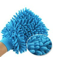 Cheap Cleaning cloth Glove shape snow neil fiber car floor cleaning cloth double thick wiping rags cleaning tool free shipping Q-227