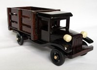 antique toy trucks - Toys truck models wooden craft gift inch Truck Green Cars