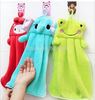 Wholesale cartoon animal baby and children soft Plush Fabric hand towel bathing towel