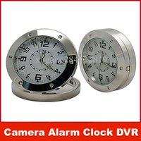 Wholesale Motion Detector Spy Covert Camera Alarm Clock DVR Round Table Desk Clock Camera GB GB NO TF Card