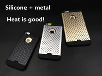 aluminum light point - For Iphone plus Honeycomb Combo Light Armor Protect Aviation Aluminum Shell Little Point New Matte Metallic Spray Paint MOQ PC Dhl Free