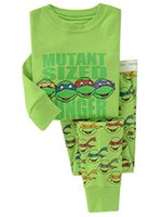 Cheap Baby boys Pajamas 2015 new children Autumn winter cartoon ninja turtles Cotton Pyjamas long Sleeve + Pants 2 Piece Suits C001