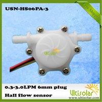 barb plug - Small Flow Hall Water Flow Sensor a USN HS06PA LPM mm OD Hose Barb Plug Ultisolar New Energy