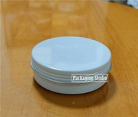 Wholesale 100g White Empty Cosmetic Cream Aluminum Jars Skin Care Lotion Metal Packaging Containers Bottle