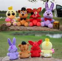 Wholesale FNAF Five Nights At Freddy s Plush pendant set five nights at freddy cm Stuffed Animals toys doll keychain dolls freddys gifts key