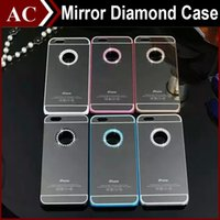 bling iphone case - iPhone6 S Luxury Bling Diamond Case Glitter Electroplate Mirror PC Hard Back Cover Skin for iPhone S S Plus No Retail Box DHL