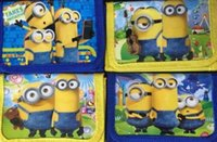 Wholesale Hot sale new Minion Despicable Me Kids Wallet Velcro Zip Coin Purse Minions Pixar Hero
